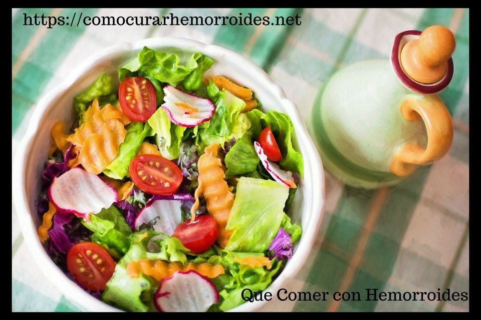 Dieta para las hemorroides