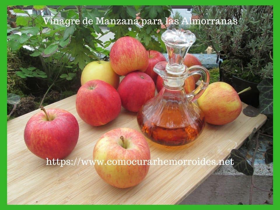 vinagre manzana para las hemorroides